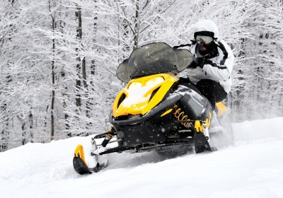 Snow mobile safari