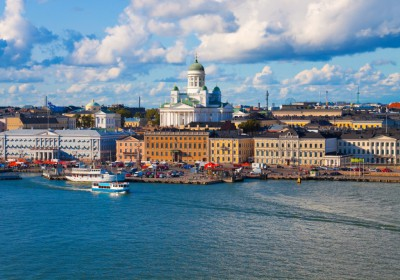 Summer panorama of Helsinki