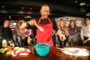 Experience the fun of cooking to the rhythm of salsa, hip-hop, jazz or disco. This is a unique social event as well as an original cooking course.