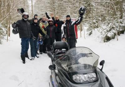 Snowmobile Safari is fun