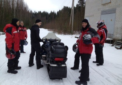 Team event at snowmobiling