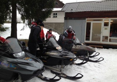 Snowmobile fun near Tallinn