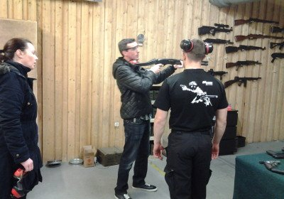 Private instructor lesson at the range