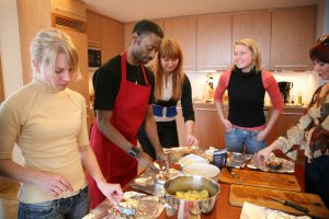 Experience the fun of cooking to the rhythm of salsa, hip-hop, jazz or disco.This is a unique social event as well as an original cooking course.